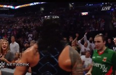 A fan was spotted in a Mayo GAA jersey losing it at WWE Summerslam last night