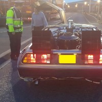 The Gardaí pulled over a DeLorean and made an excellent Back to the Future reference