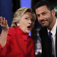 Hillary Clinton laughed off claims about her health on a US talk show last night