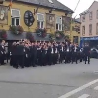 The Rose of Tralee escorts took over the town centre for a massive sing song