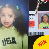 This teen perfectly recreated a cringey childhood outfit for her school photo