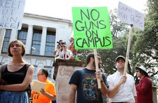 Students at University of Texas protest gun law with sex toys