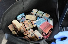 These wads of cash were found hidden in a car by organised crime gardaí