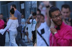 A lad saw Rihanna walking down the street and his reaction was priceless