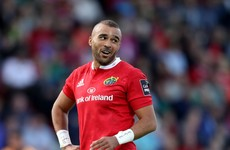 Early headache for Munster as Simon Zebo forced off after 18 minutes in Pro12 opener
