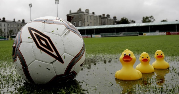 Torrential rain has played havoc with Saturday's League of Ireland fixtures