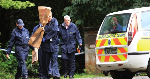 Gardaí remove items of evidence from Philip Finnegan crime scene