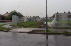 Car crashed through fence at Dublin modular housing site, then set alight