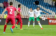 WATCH: Early Jeff Hendrick effort has Ireland leading Serbia