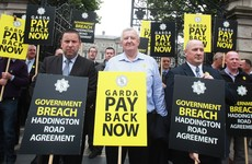 The Garda union is asking members whether or not they want to strike over pay