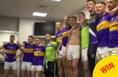 The Tipp team celebrated their All Ireland win with a bit of trad in the dressing room