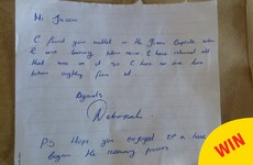 A Wexford lad lost his wallet at Electric Picnic and a sound woman posted it back to him