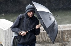 Rush hour: Heavy rain, fallen trees and a bus strike make for miserable commute