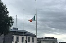 Flag flying at half mast at Limerick City Hall for Ailish Sheehan