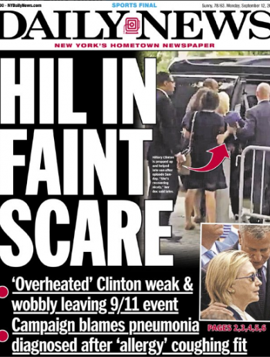 Hillary's health - From right-wing conspiracy to front page news