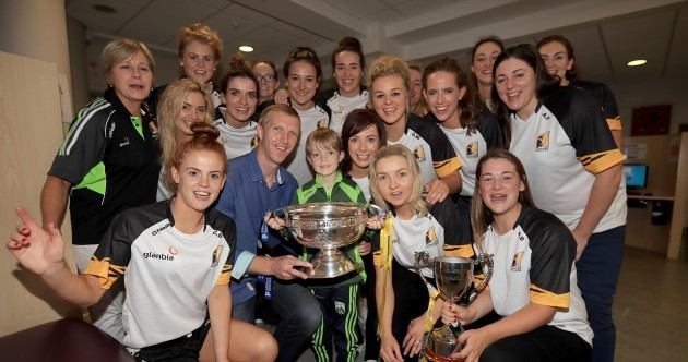 Kilkenny's All-Ireland champs met Henry Shefflin at Crumlin Children's Hospital today