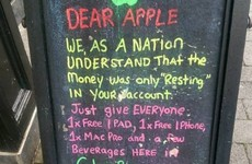 A pub in Mullingar has come up with a simple solution to the Apple tax issue