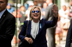 Clinton all smiles after pneumonia drama as Trump prepares to release his health records