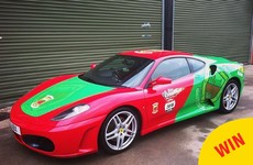 A dedicated Mayo fan kitted out his Ferrari in the county colours