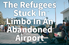 WATCH: The refugees stuck in limbo in an eerie, abandoned airport