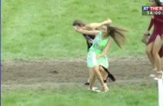 Spare a thought for this girl at the Listowel Races caught snotting herself on camera
