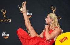 Everybody's loving this stuntwoman's kick ass Emmy red carpet photos