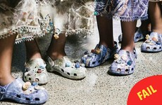 Renowned designer Christopher Kane put Crocs in his fashion show, and no one is here for it