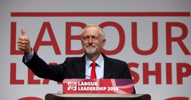 Jeremy Corbyn has been re-elected as UK Labour leader