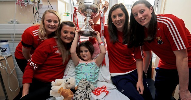 Cork and the Brendan Martin Cup paid a special visit to Crumlin Children's Hospital this morning