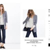 This �80 Zara coat is all over Instagram because it's absolutely EVERYWHERE