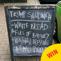 This cafe in Belfast has a new sandwich taking the piss out of Donald Trump