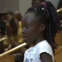 Tearful nine-year-old delivers speech on police brutality in Charlotte