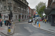 The bottom of Dawson Street is now closed to traffic for Luas works