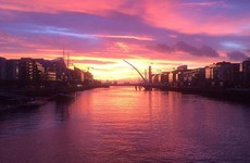 The sunrise over Dublin this morning was absolutely stunning