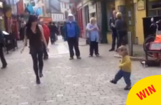 This toddler mimicking a dancer on the streets of Galway has gone viral worldwide