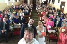 This 'cool priest' helped a couple from Donegal get the perfect wedding selfie
