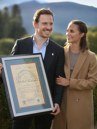 Michael Fassbender presented with Killarney's highest honour