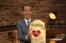 The big giveaway on the Late Late last night was a bag of spuds for everyone in the audience
