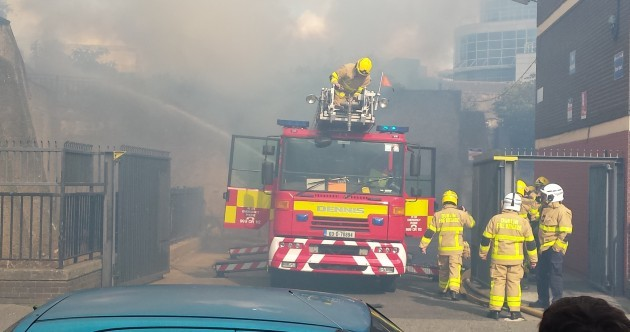 Four fire brigade units respond to blaze in Dublin city centre