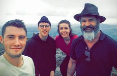 These hikers bumped into Mel Gibson on the top of the Sugar Loaf