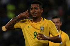 Premier League-bound Gabriel Jesus can't stop scoring for Brazil