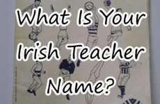 What Is Your Irish Teacher Name?