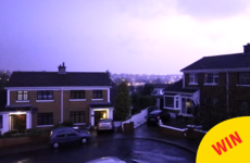 This slow-motion footage of lightning illuminating Waterford last night is deadly