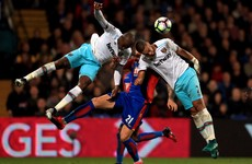 Lanzini the hero for 10-man Hammers while Benteke misses penalty for Palace