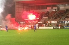 Shelbourne fans protest move to Dalymount Park