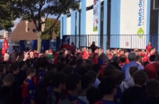 Munster fans in Paris sang the Fields of Athenry in a moving tribute to Anthony Foley