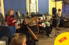 This school in Louth put together a brilliant trad version of Titanium for a special cause