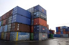 A three-year-old girl and four other people have been found inside a shipping container in Wexford