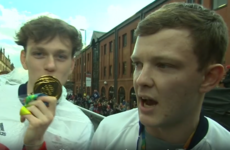 Two lads with fake medals blag their way onto Team GB's Olympic 'Heroes' parade