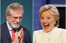 Clinton's words of love for Gerry Adams gave her aides cause for concern